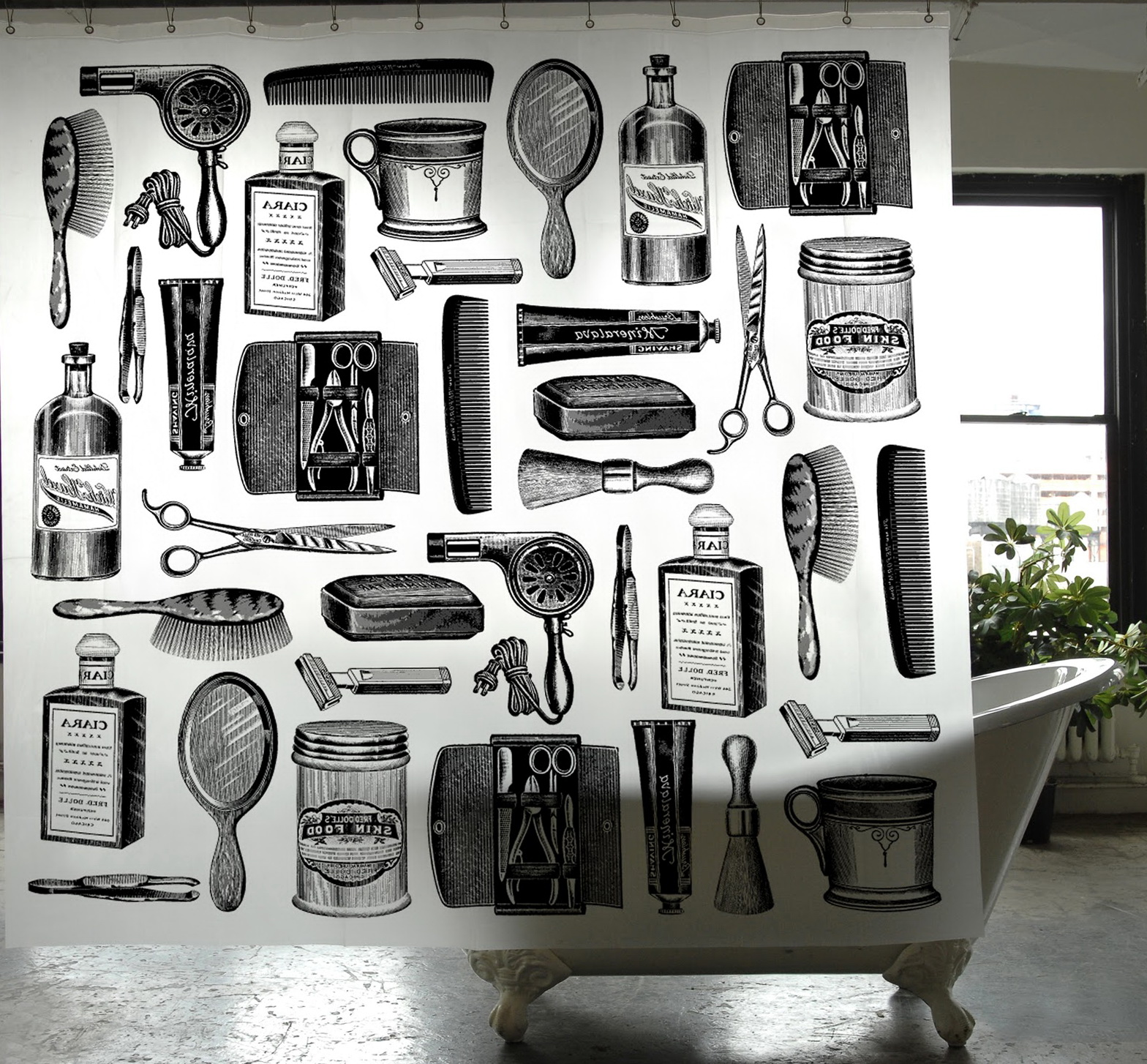Barber Bathroom Zone Shop Shower Curtain Home Design Ideas