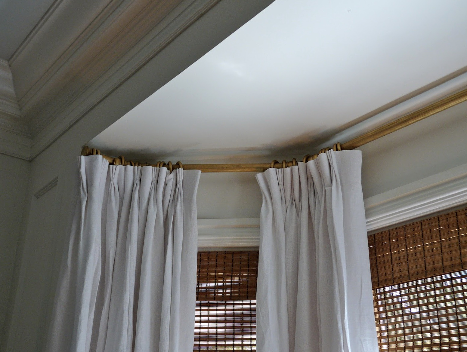 Bay Window Curtain Track Home Design Ideas