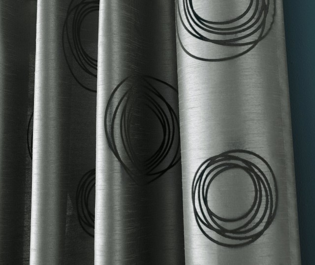 Black And Gray Curtain Panels