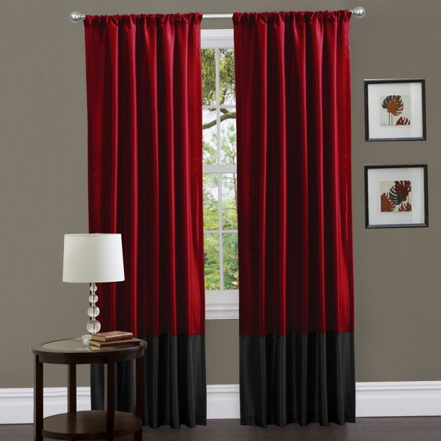 Black And Red Curtains For Bedroom