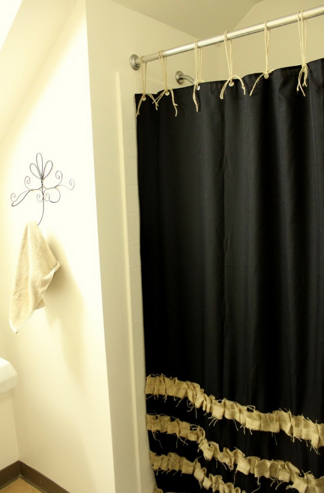 Black And Tan Curtain Panels