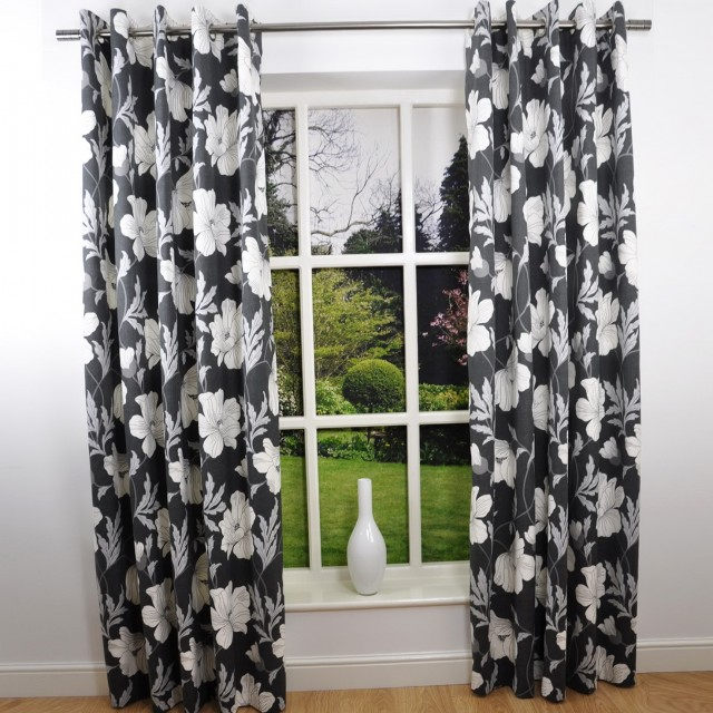 Black And White Patterned Curtains