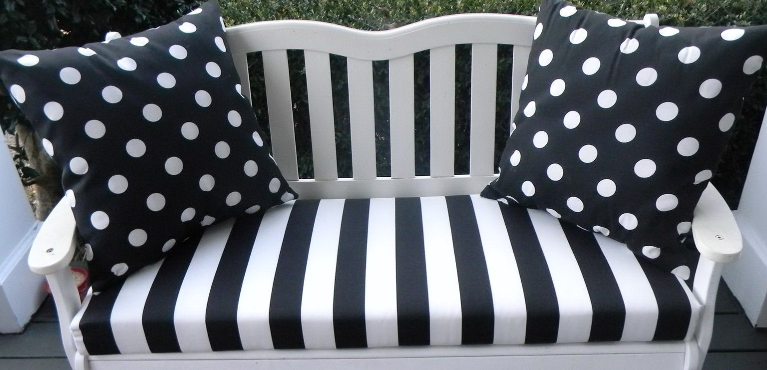 Black And White Striped Outdoor Cushions