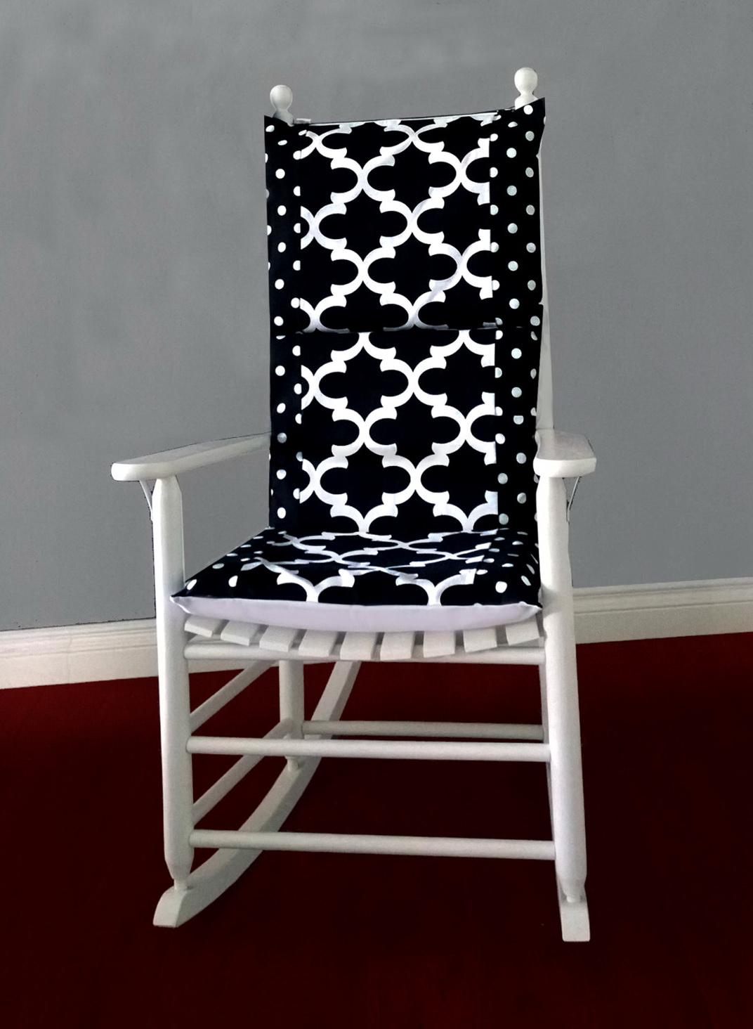 Black Rocking Chair Cushions