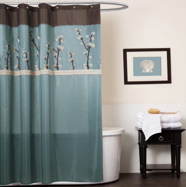 Blue And Brown Plaid Curtains
