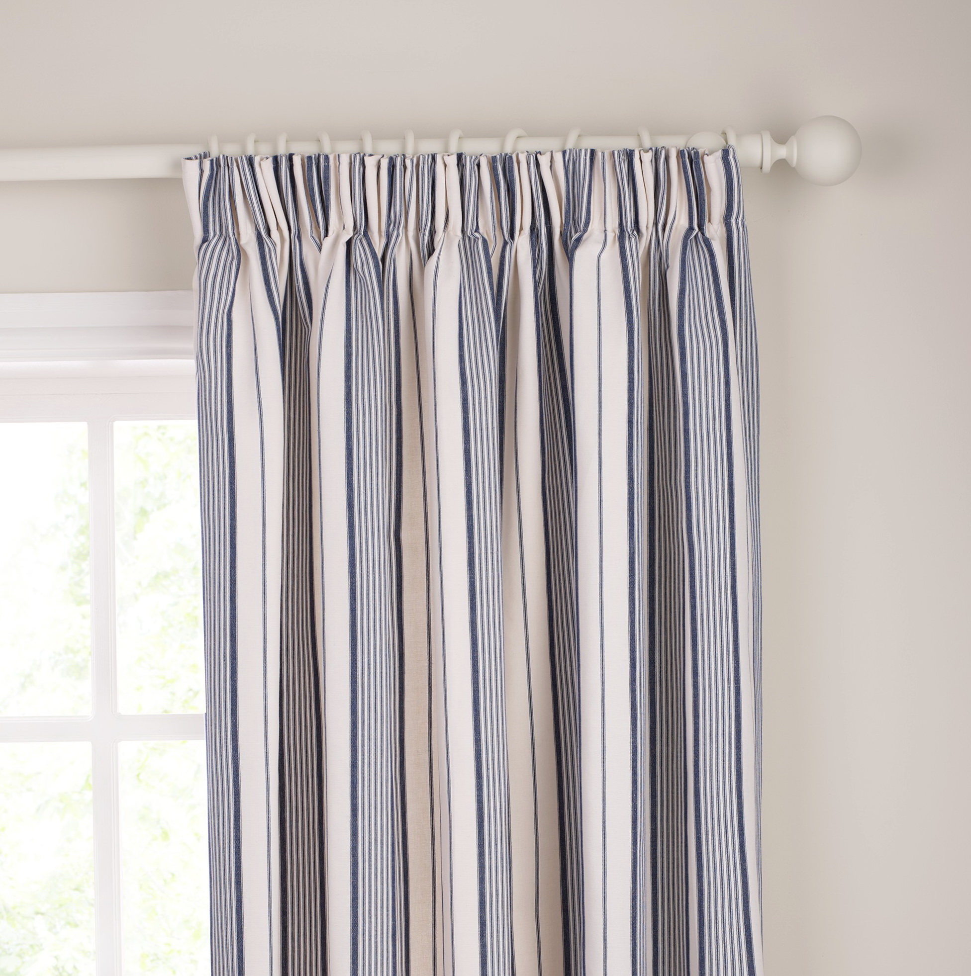 Brown And White Striped Curtains
