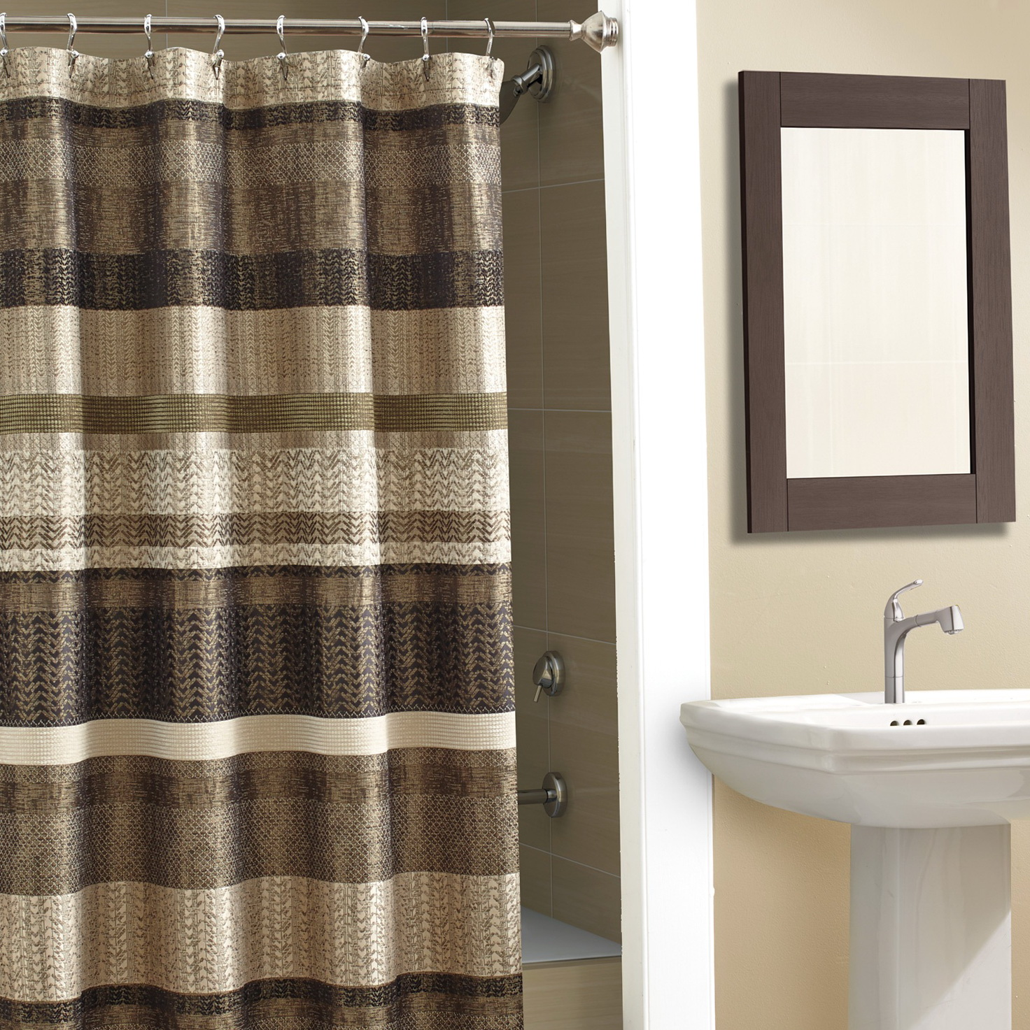 Brown Multi Colored Curtains Home Design Ideas
