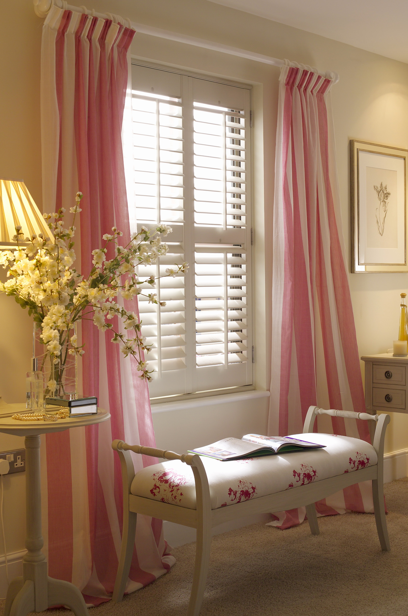 Cafe Style Shutters With Curtains Home Design Ideas