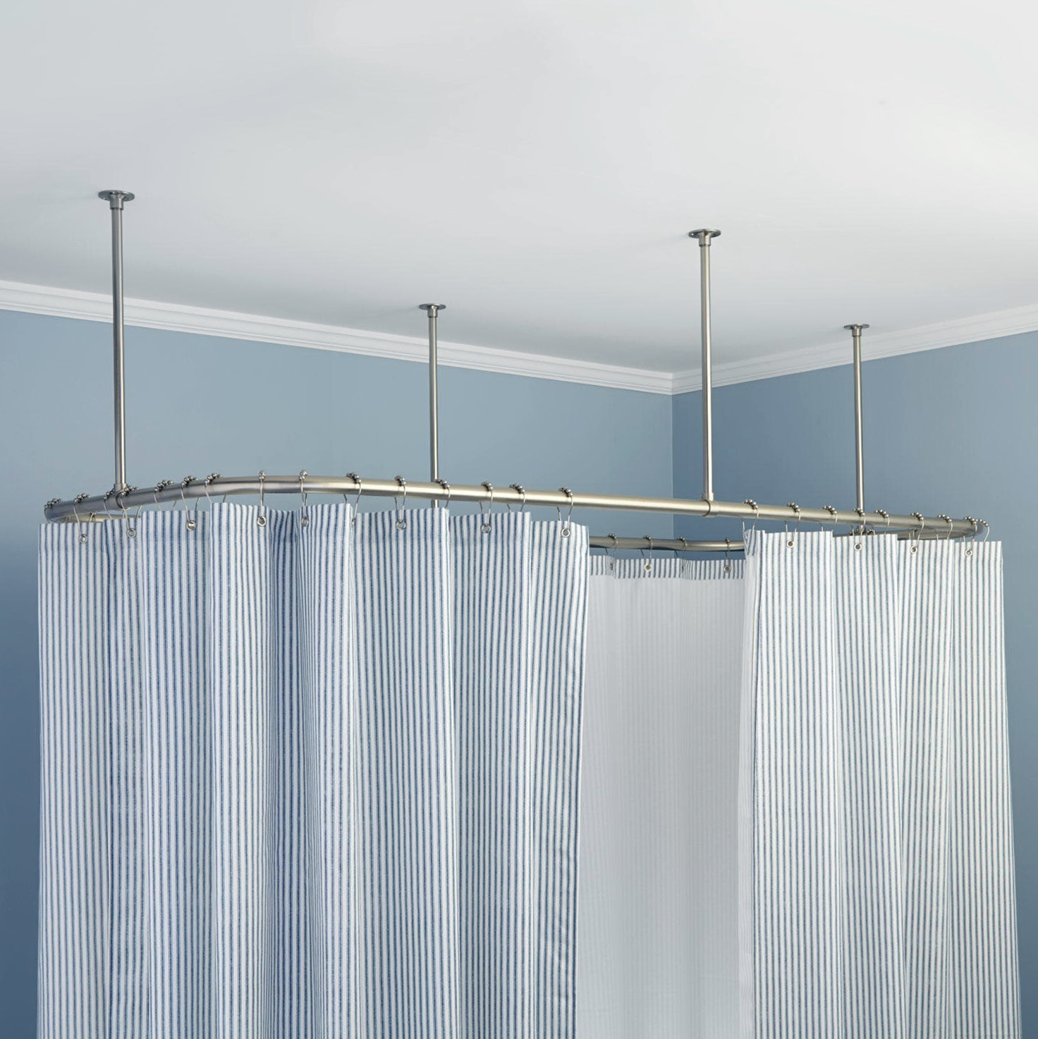 ceiling mount shower curtain track