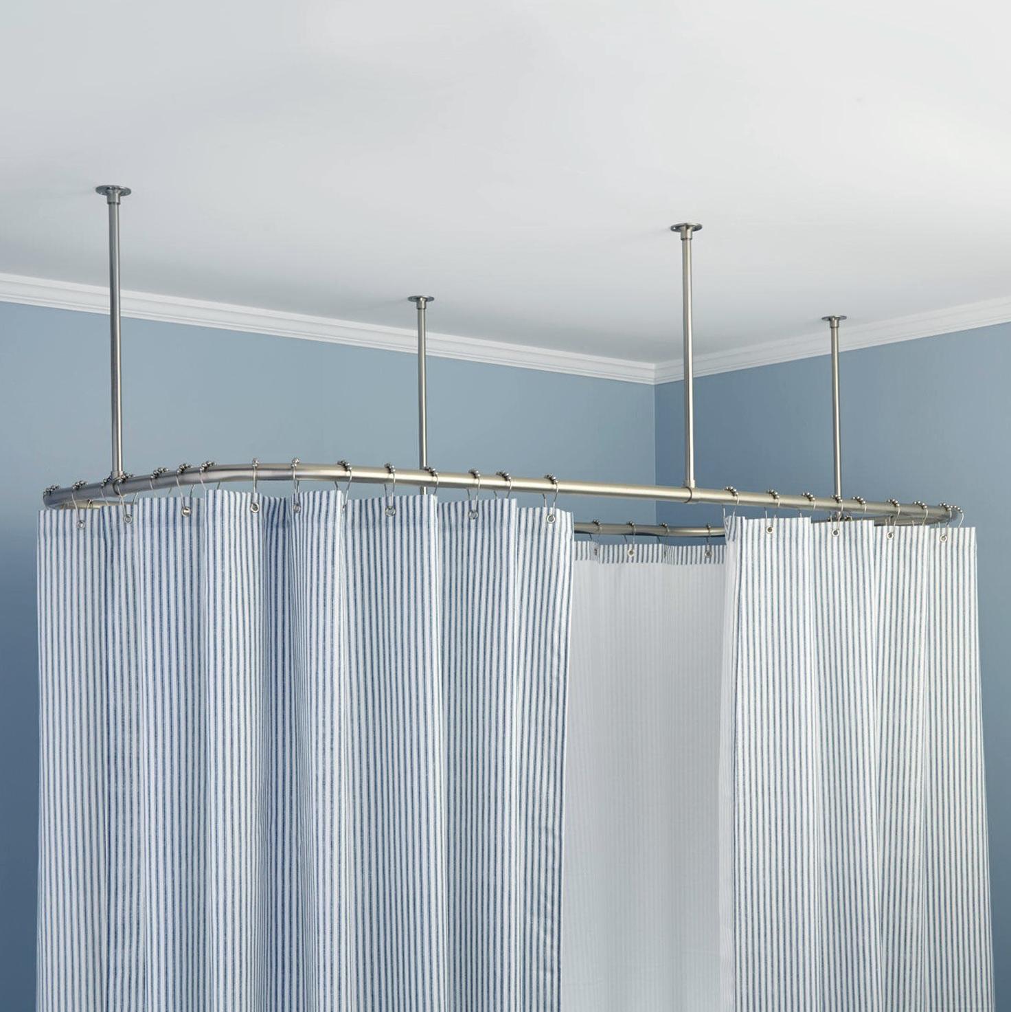 Ceiling Mounted Shower Curtain Rail | Home Design Ideas