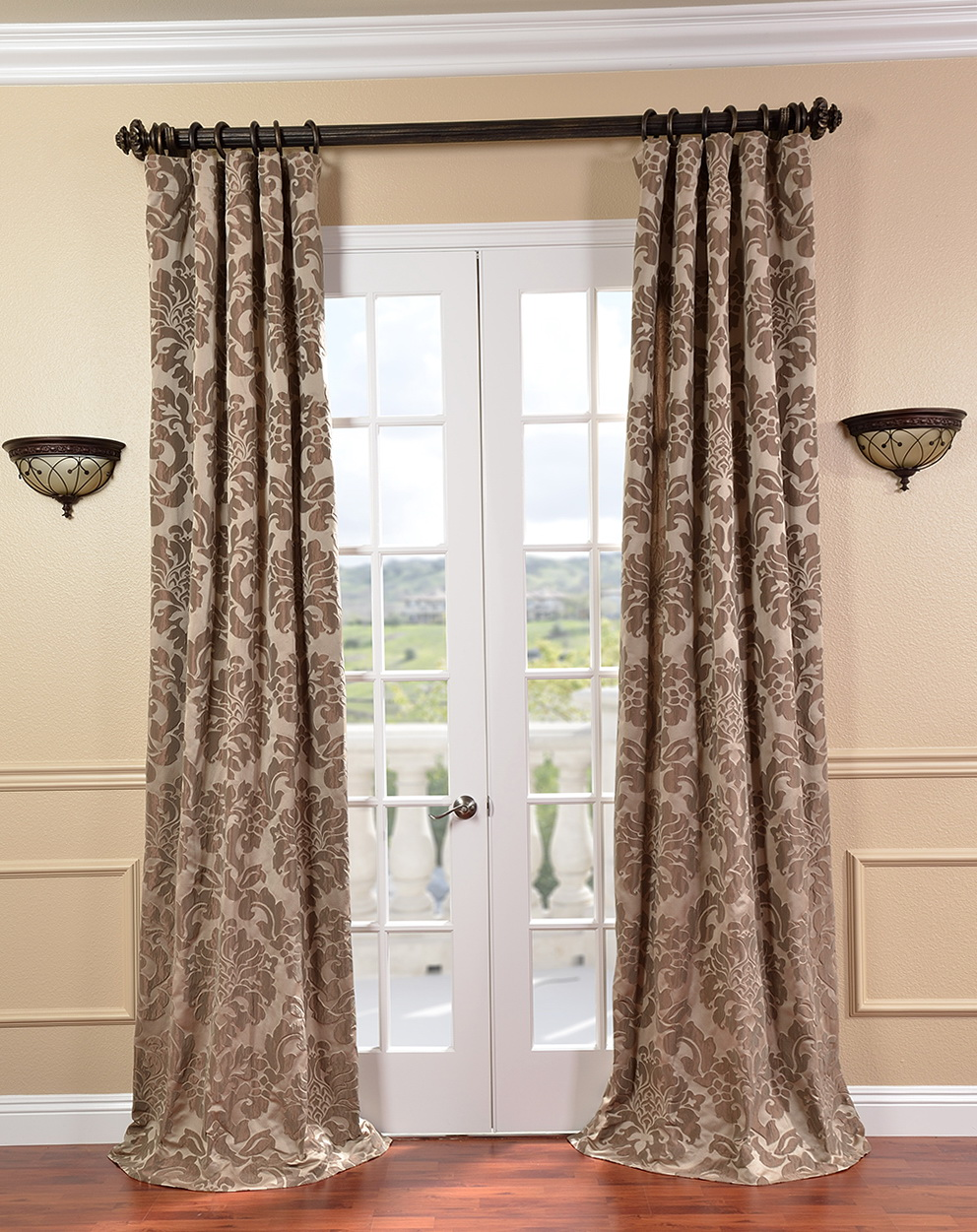 Chocolate Brown And White Curtains Home Design Ideas