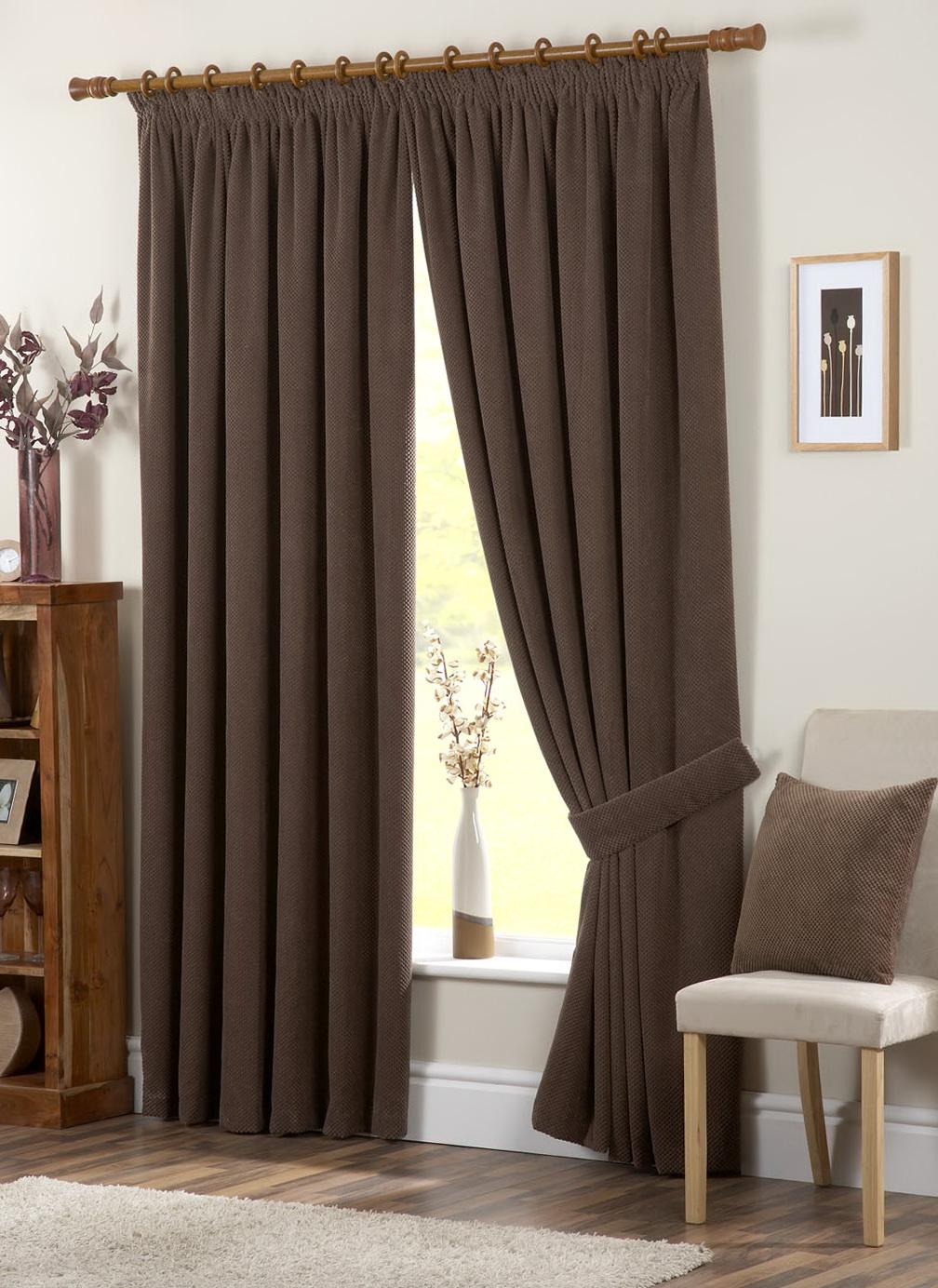 Chocolate Brown Eyelet Curtains