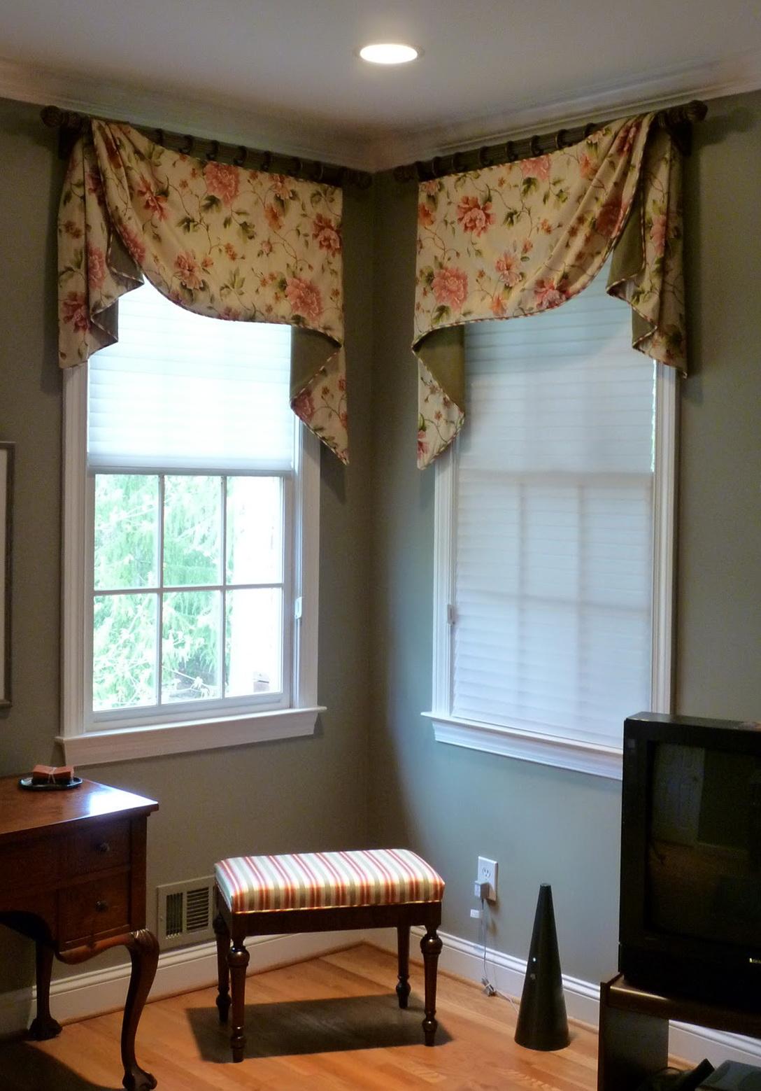 Corner Kitchen Window Curtains