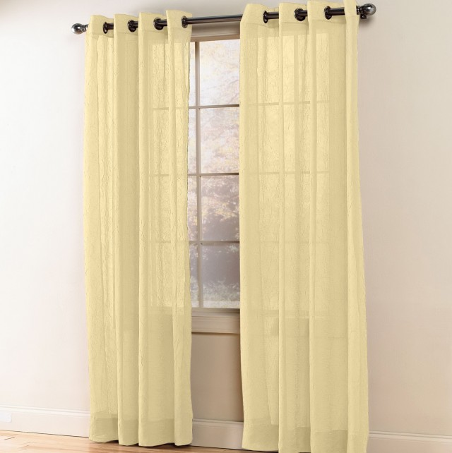 Crushed Voile Curtains Grommet