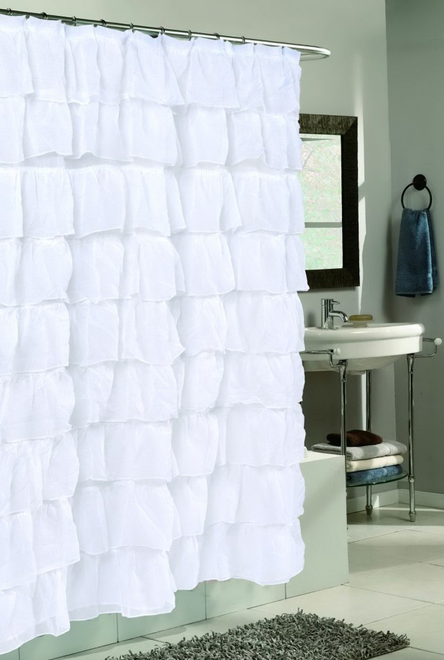 Crushed Voile Curtains White