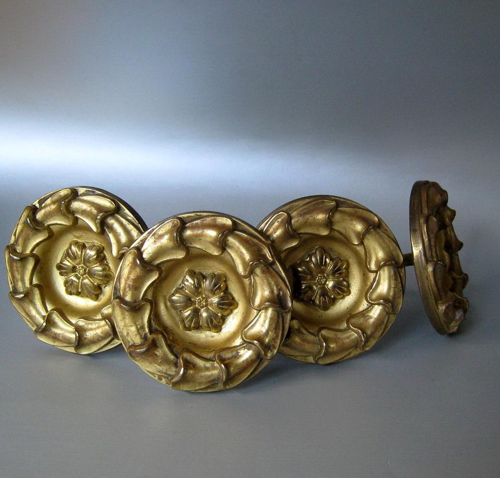 Curtain holdbacks antique brass home design ideas for Decorative holdbacks