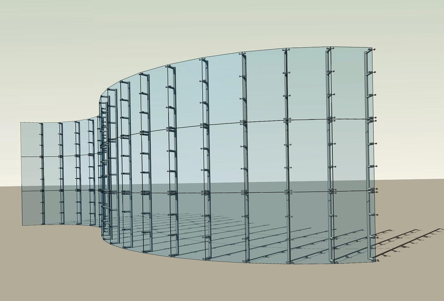 Curtain Wall Home : Curtain wall design revit home ideas