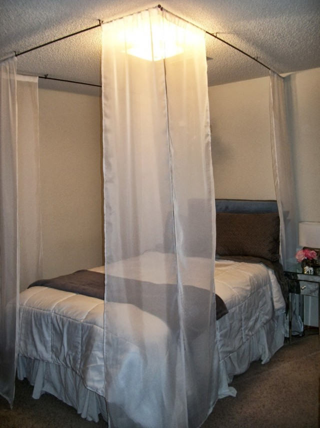 Curtains Around Bed Diy