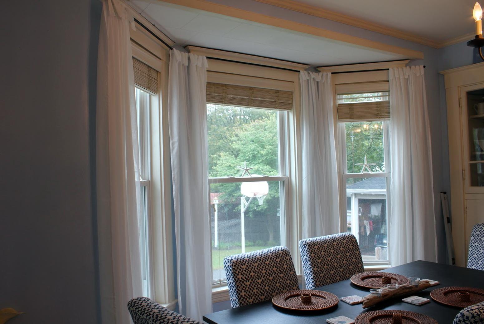 Curtains For Dining Room Bay Window Home Design Ideas