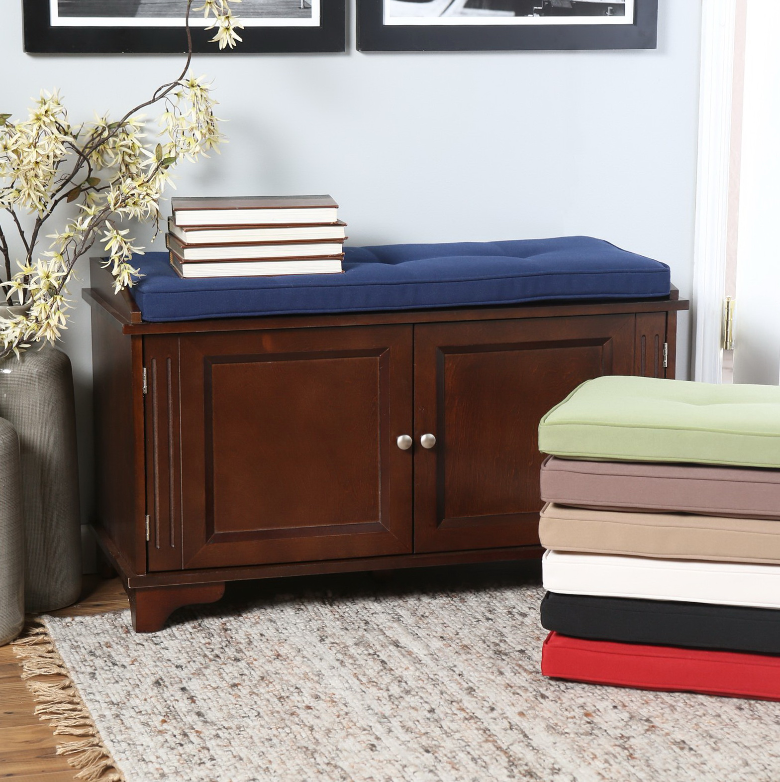 Cushion Top Storage Bench