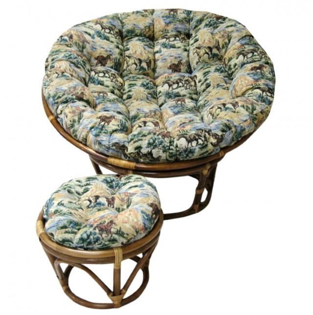 Double papasan cushion cheap home design ideas for Double papasan chair cushion