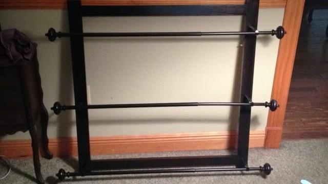Free Standing Curtain Rod Diy