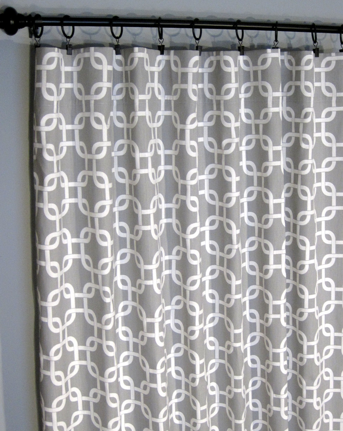 Geometric Pattern Curtain Panels