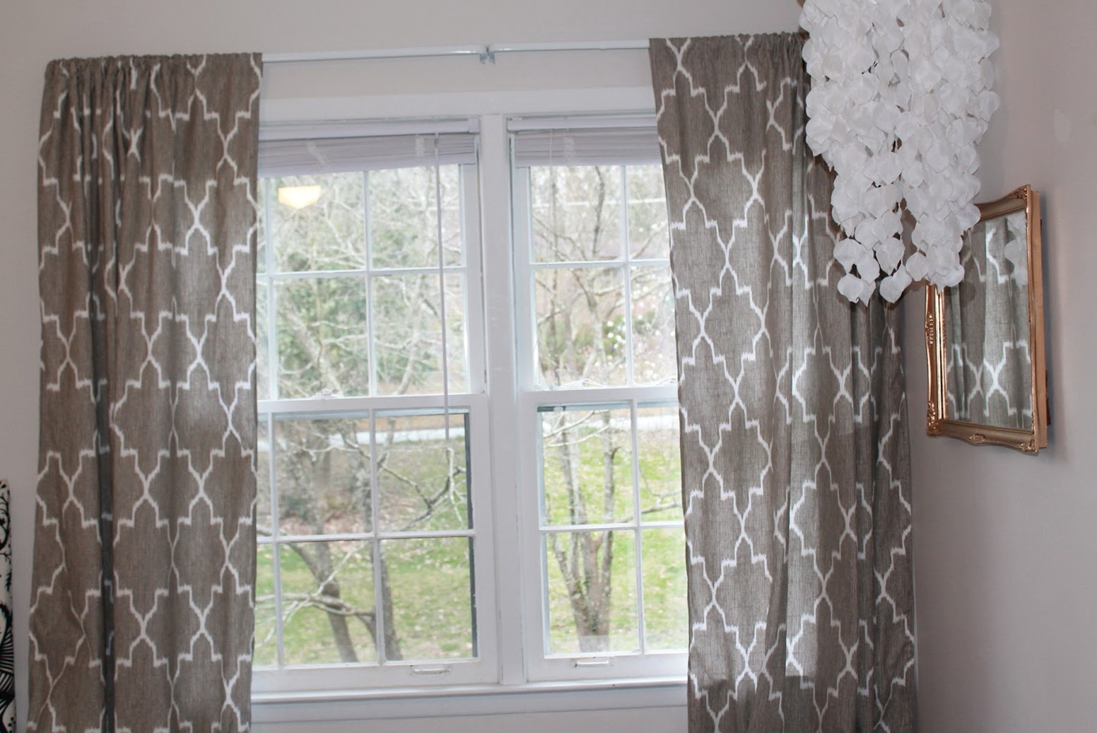 Grey And White Patterned Curtains