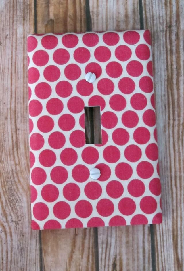 Hot Pink Polka Dot Curtains