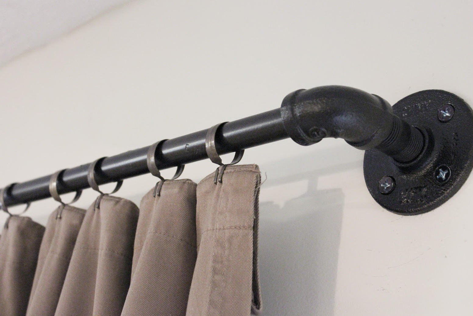 Industrial Pipe Curtain Rod Uk Home Design Ideas