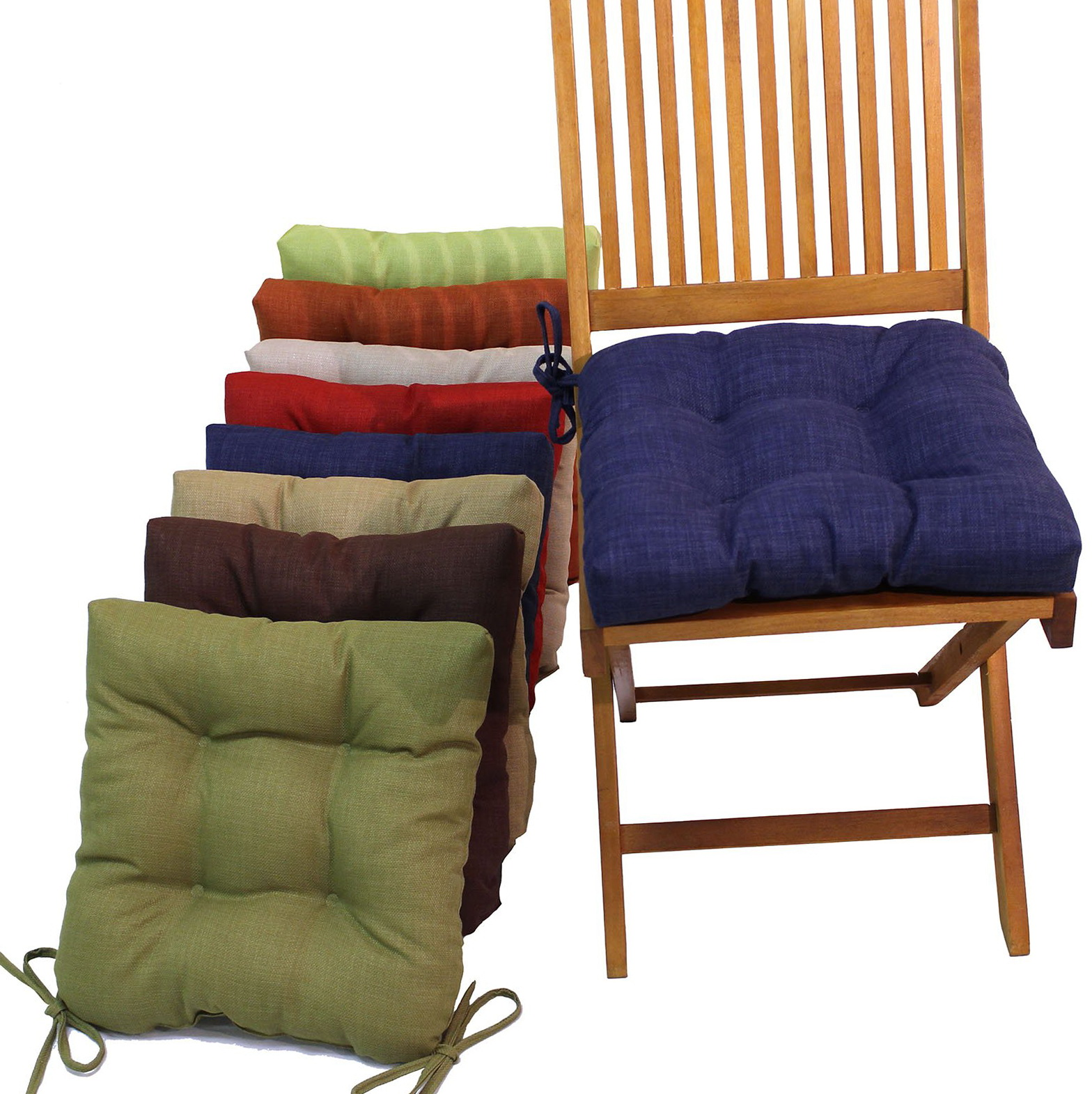 kitchen chair seat cushions with ties home design ideas. Black Bedroom Furniture Sets. Home Design Ideas