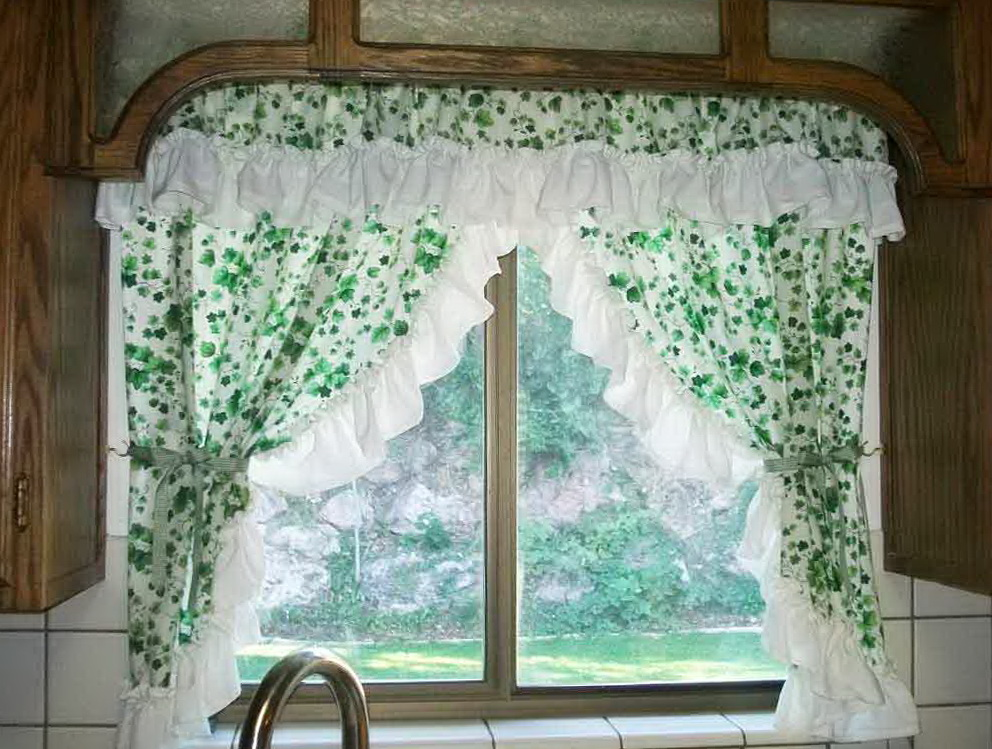 Kitchen curtain valance patterns home design ideas - Kitchen valance patterns ...