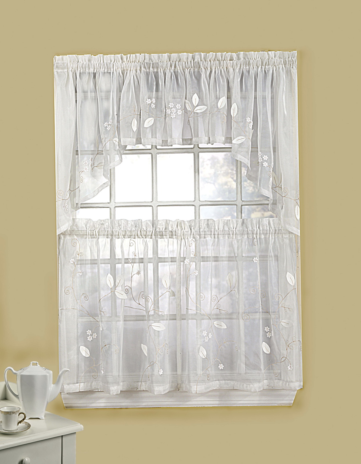 Kitchen Curtain With Valance