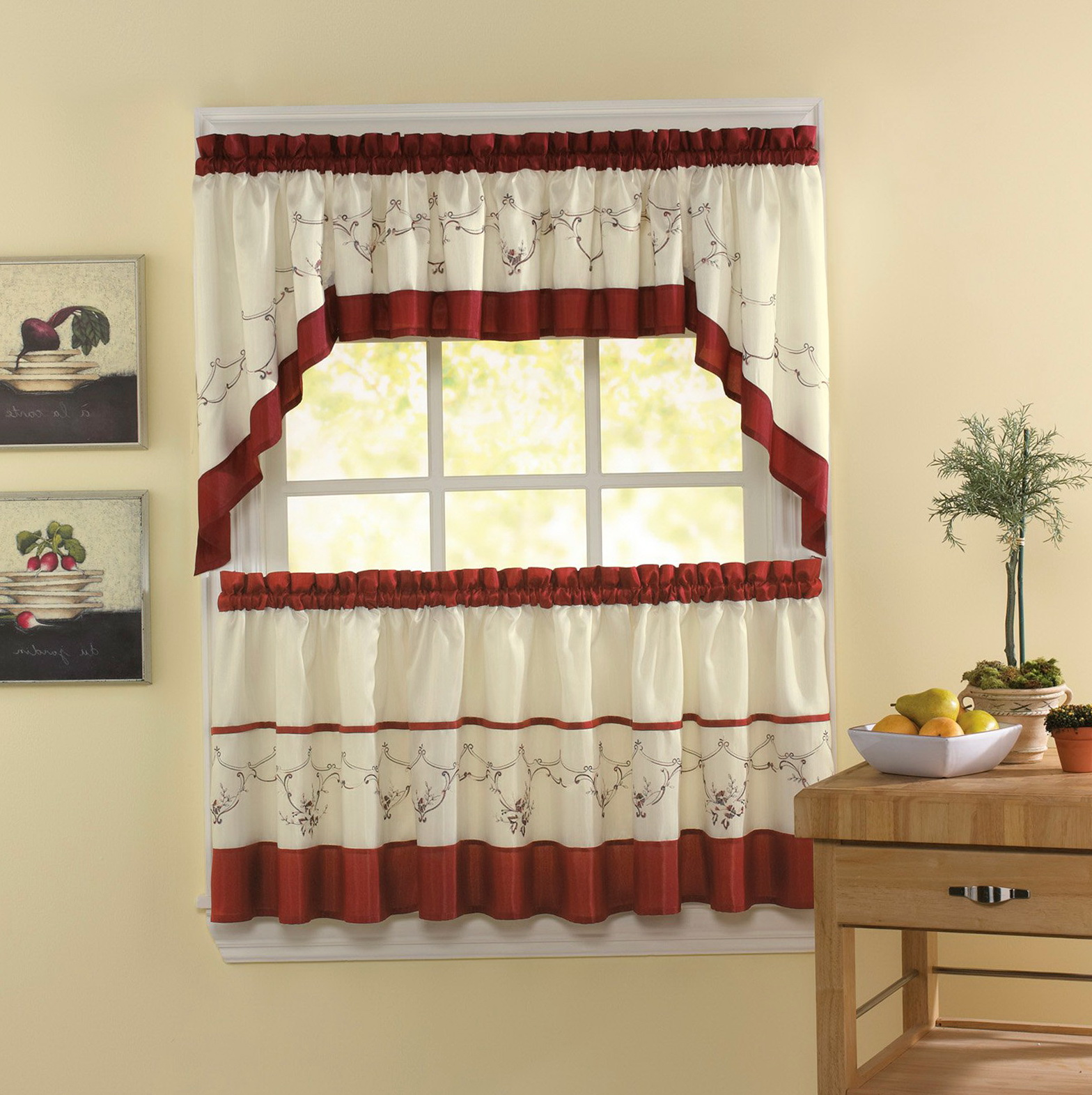 Kitchen Tier Curtains Walmart Home Design Ideas