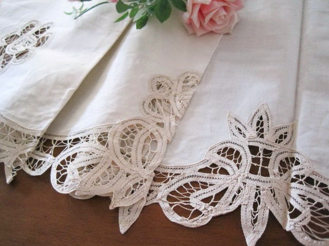 Lace Cafe Curtains Cotton