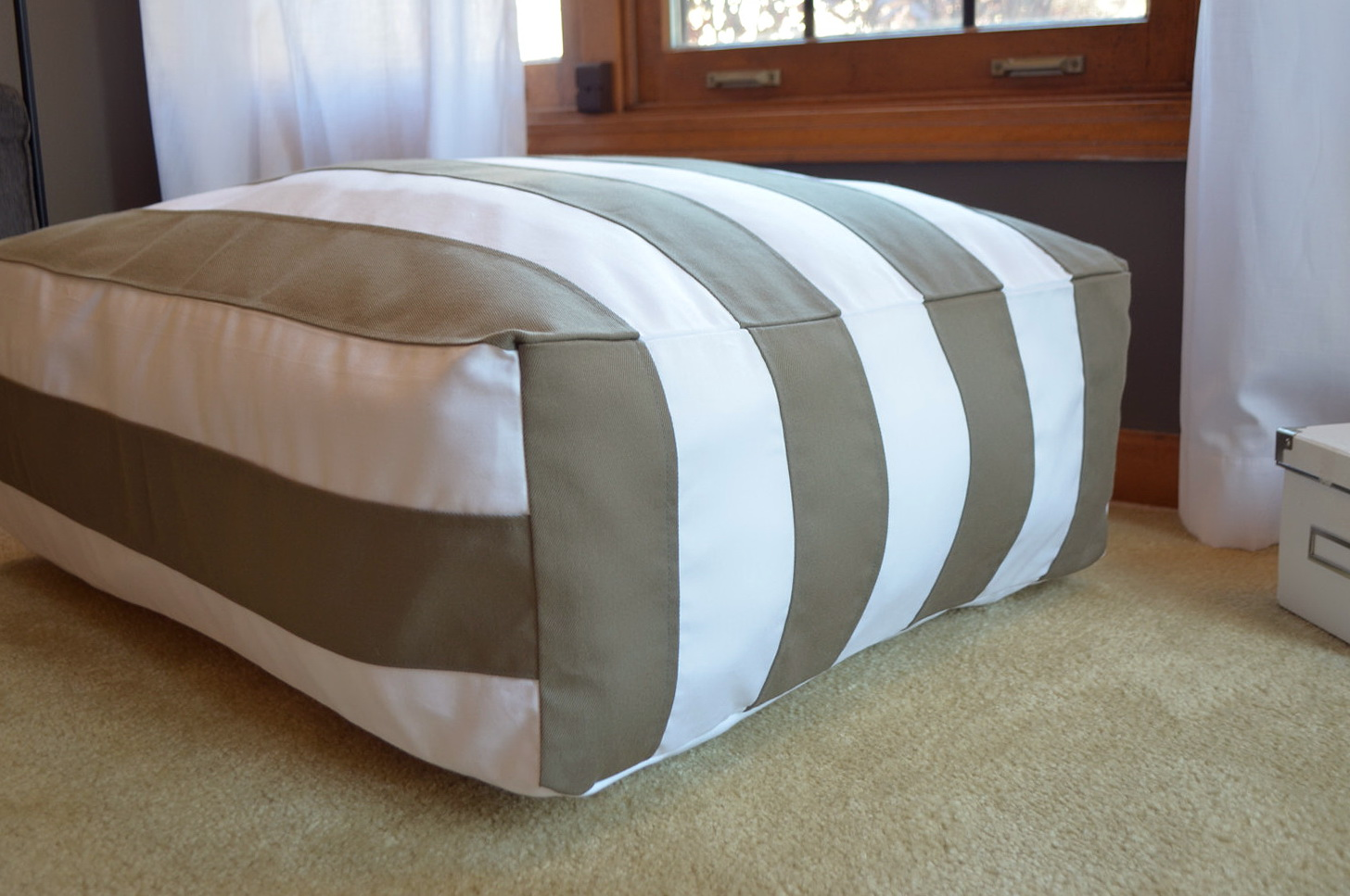 Use your own custom designs to create large floor cushions for the home or office. These giant floor cushions are available in four different sizes which are all lightweight, with a removable cover for easy cleaning.