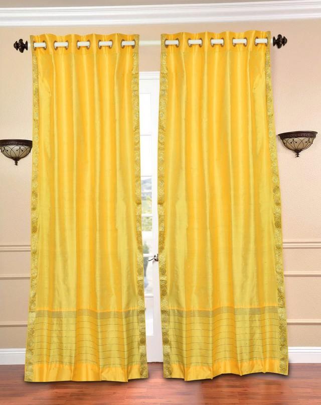Light Yellow Sheer Curtains
