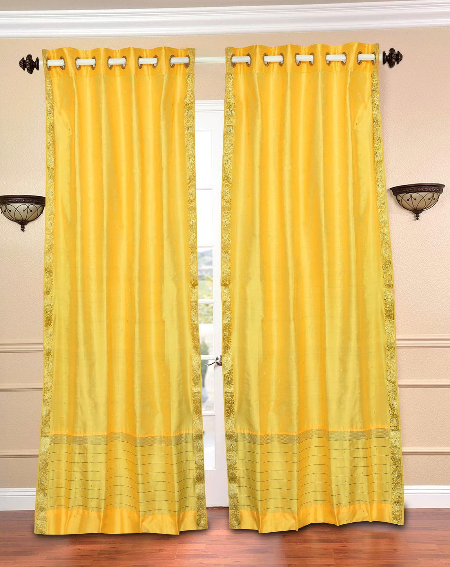 Light Yellow Sheer Curtains Home Design Ideas