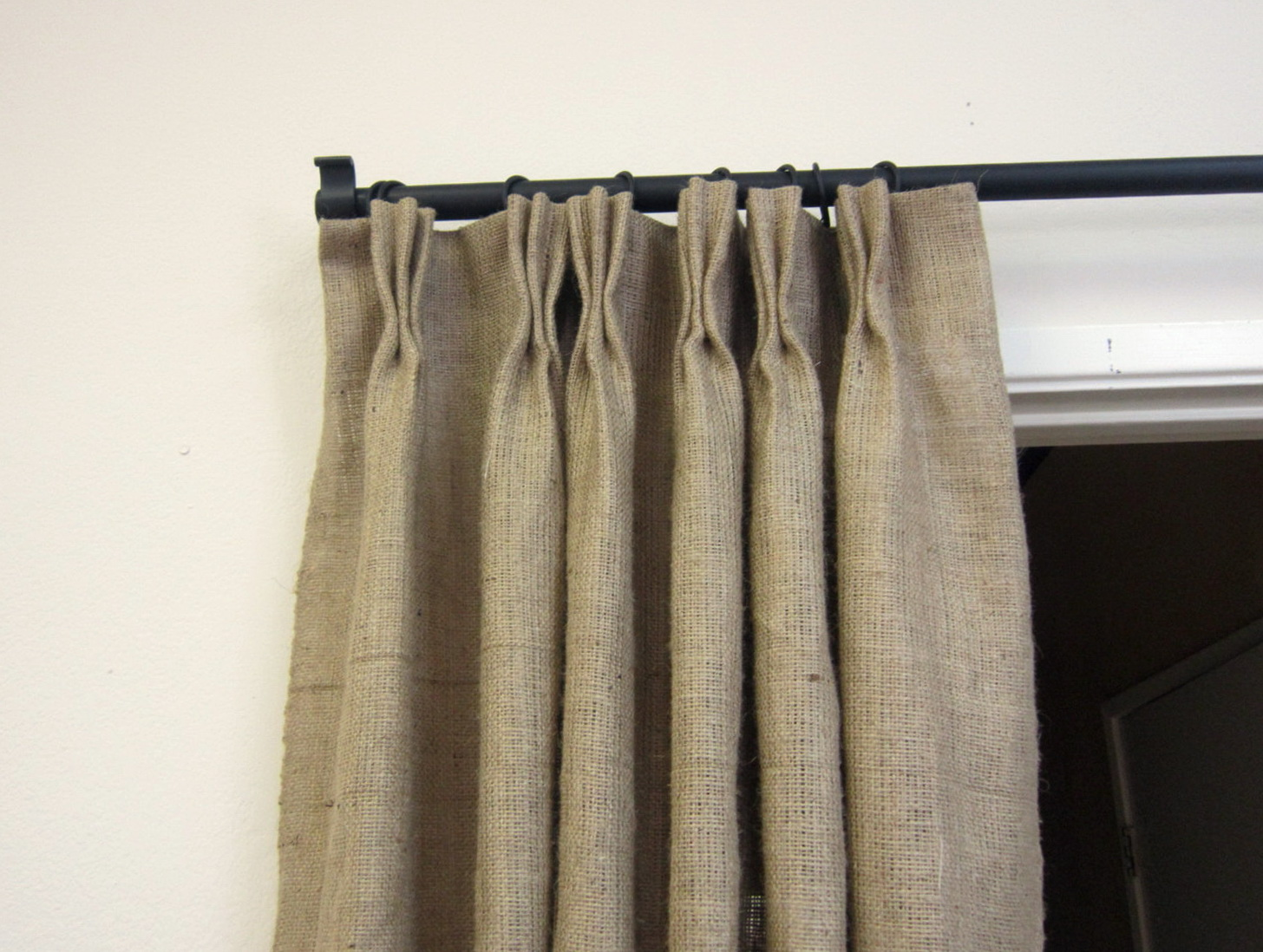 Lined Burlap Curtains Diy Home Design Ideas