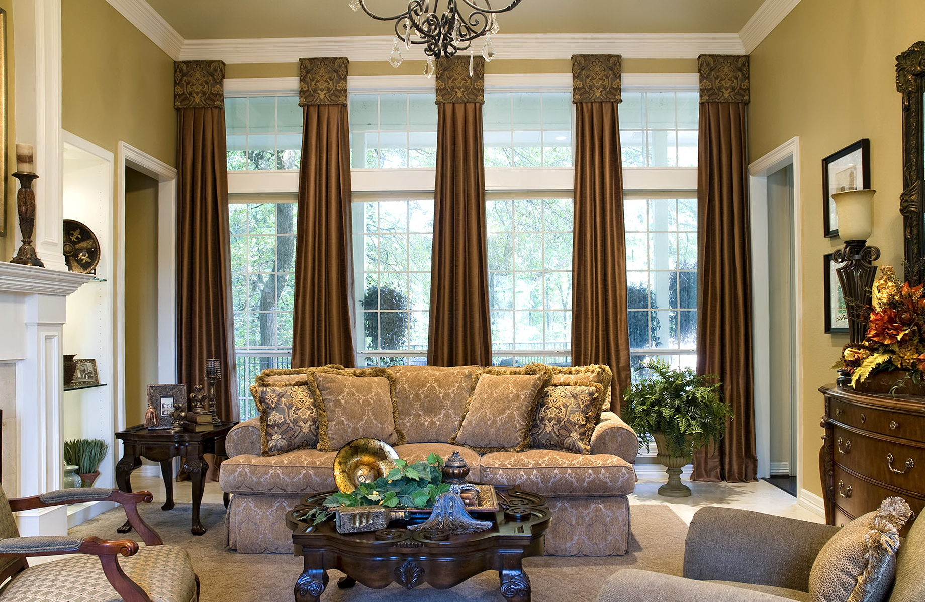 Living Room Curtains For Big Windows Home Design Ideas