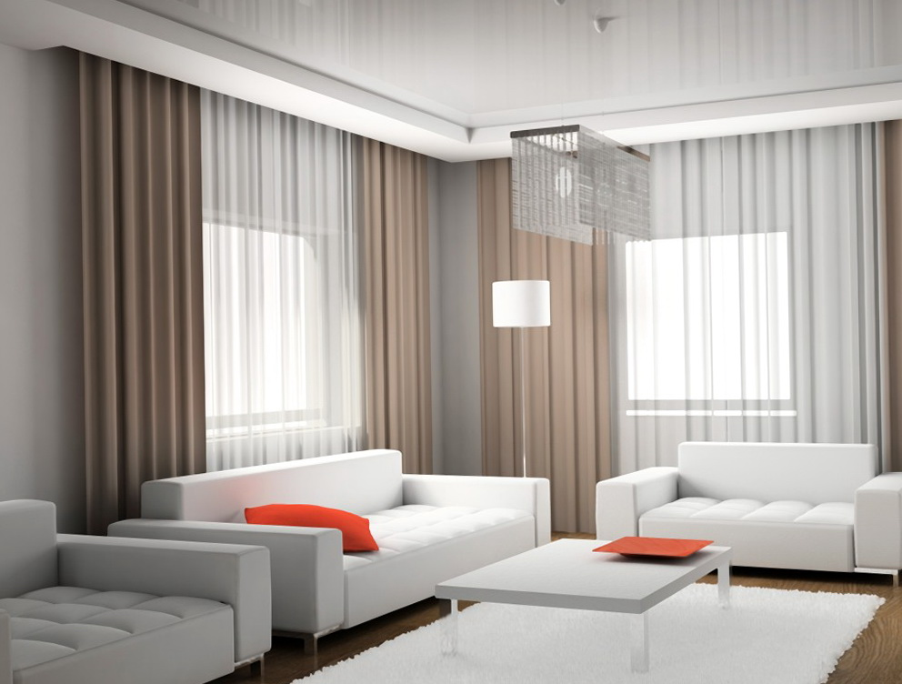 Modern curtain for living room home design ideas for Modern curtain for living room