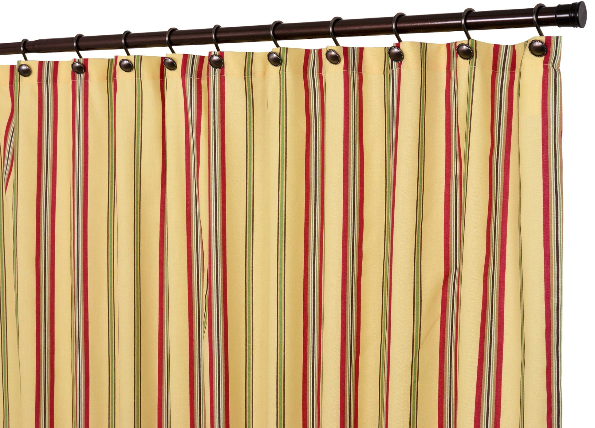 Multi Colored Striped Curtains