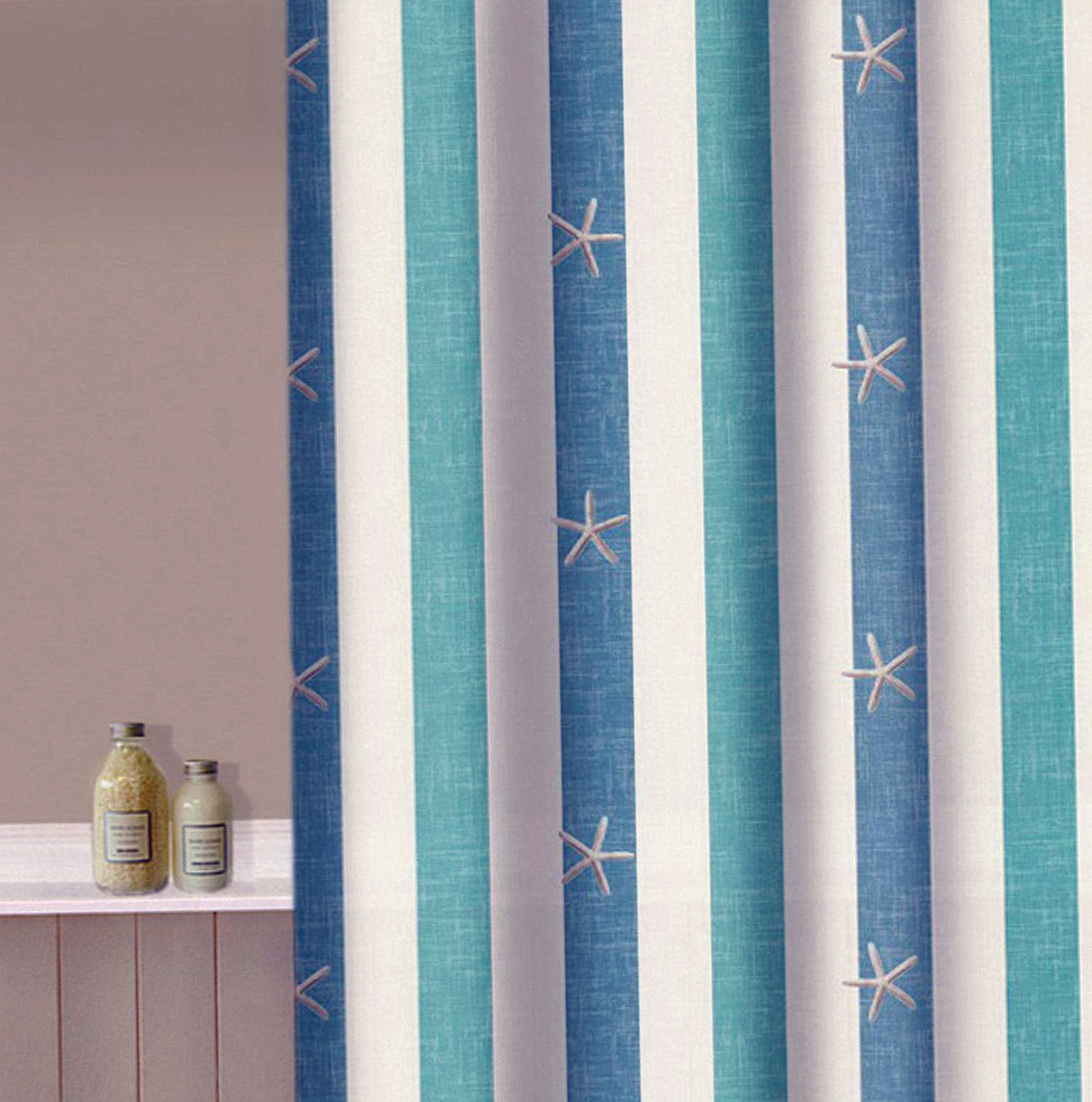 Nautical Striped Shower Curtains Home Design Ideas