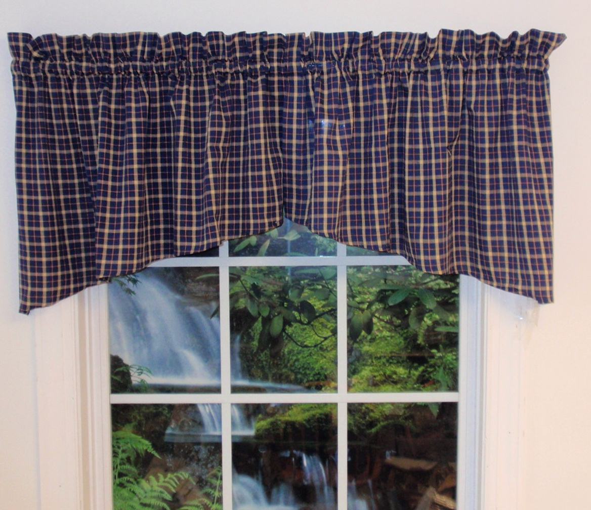 Navy Blue Plaid Curtains Navy Blue Plaid Shower Curtain By Kippygocontempo New Primitive