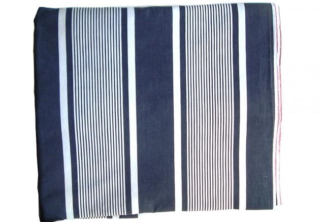 Navy Ticking Stripe Curtains