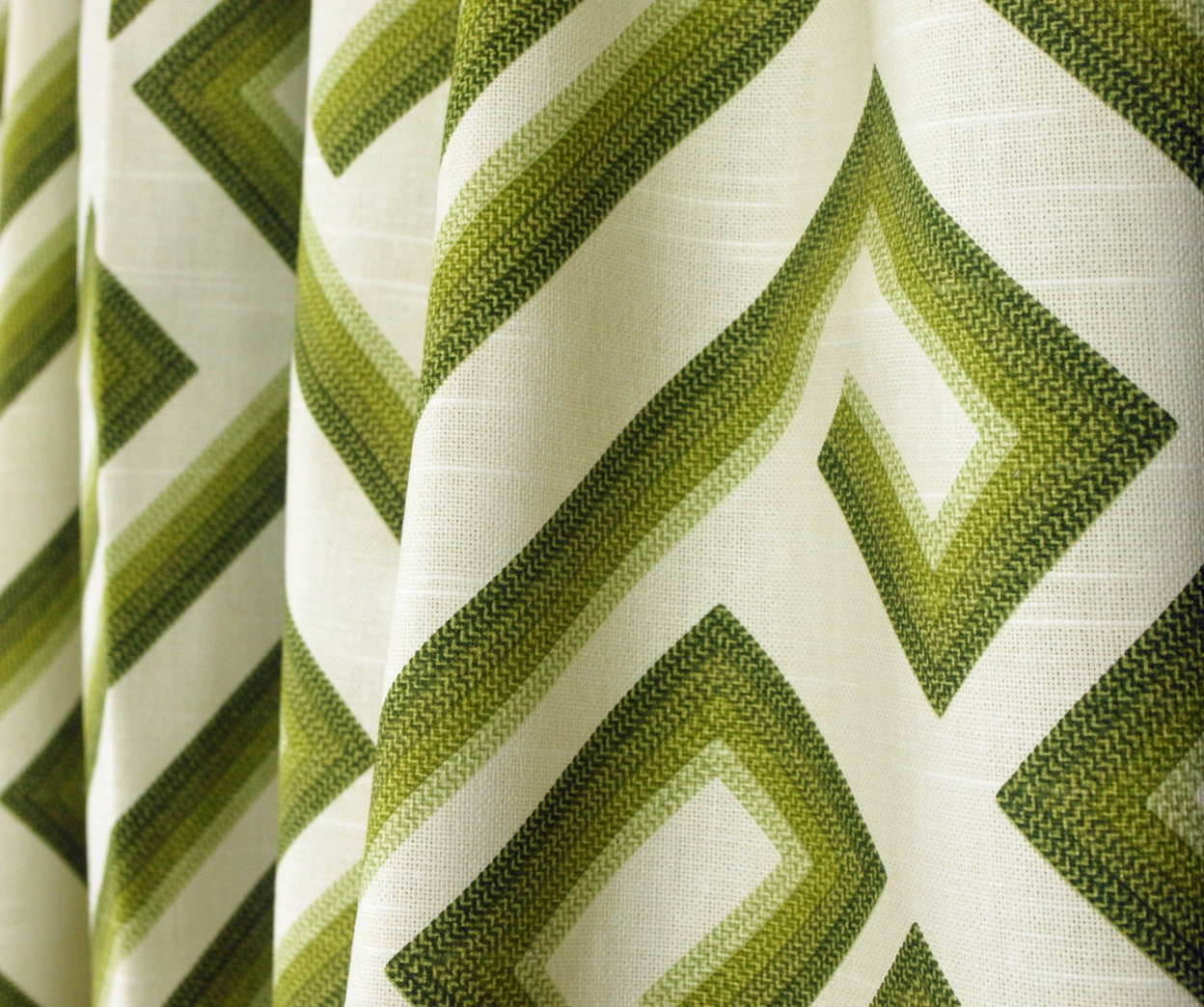Olive Green Patterned Curtains Home Design Ideas