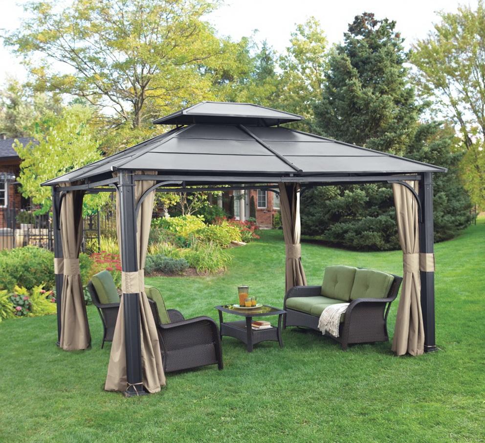 Outdoor Gazebo Curtains Canada Home Design Ideas
