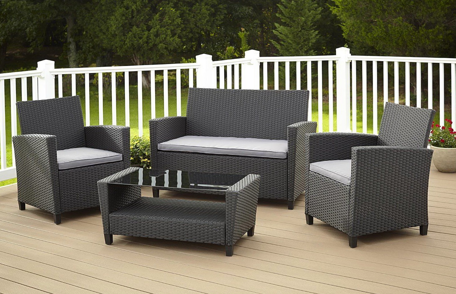 Outdoor Wicker Furniture Cushions Sets Home Design Ideas