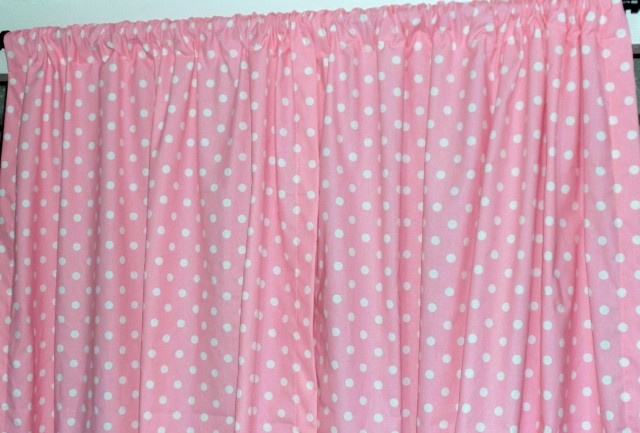 Pink Polka Dot Curtains 72 Drop