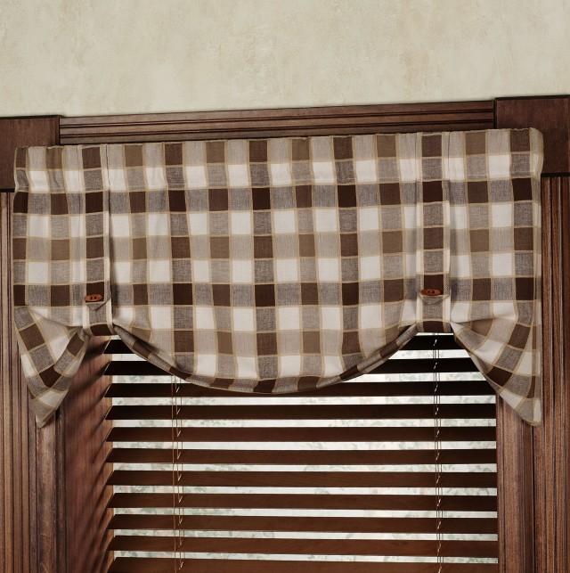 Plaid Kitchen Curtains Valances